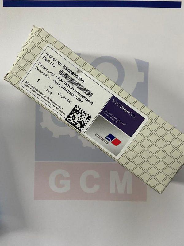 MTU fuel priming 5550900350